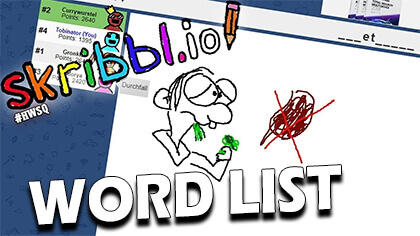 skribbl.io word list 2018
