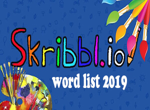 skribbl.io word list 2019