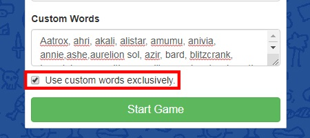 skribbl.io custom word set